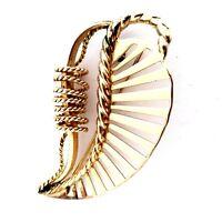 1 38/'/' Wide 1 78/'/' High Vintage Goldtone Four Leaf Clover Design PinBrooch