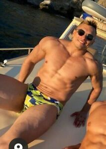 "MENS Swimming Briefs Trunks speedo Swimwear L 85cm/34"" Commando Army Solider on"