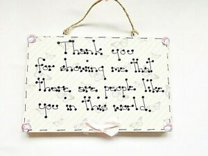 Thankyou Special People Quote Wall Plaque Sign Home Decor Friends Family Gift