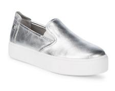 BCBG Generation Womens Casey Metallic Leather Sneakers US 8.5 Medium NIB