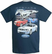 '05-'09 Red, White & Blue Mustang Flag T-Shirt - Patriotic Design FREE SHIPPING
