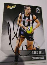 Luke Ball (Collingwood FC) signed 2012 Select Australia common card + COA