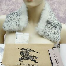 BURBERRY LONDON New Authentic Womens Designer Check Lining Fur Wrap Collar #1