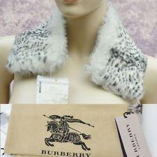BURBERRY LONDON New Authentic Womens Designer Check Lining Fur Wrap Collar #2