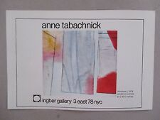 Anne Tabachnick Art Gallery Exhibit PRINT AD - 1979