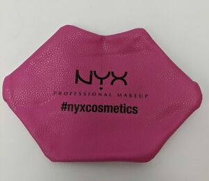 NYX Small Zipper Professional Makeup Bag Fuschia 9 x 5 Inch NWOT
