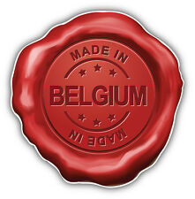 Made In Belgium Wafer Car Bumper Sticker Decal 5'' x 5''