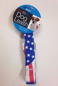 Patriotic American Flag Dog Leash - Red, White & Blue