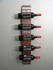 Vintage Custom Hand-Made Wine and Bottle Holder Rack Wall Mount Art
