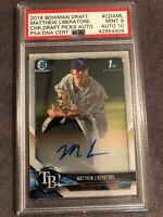 2018 Bowman Draft Chrome 1st Matthew Liberatore Prospect Auto PSA/DNA 9/10 POP 1