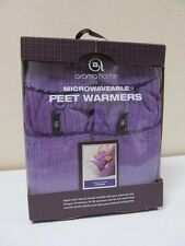 Aroma Home Microwavable Feet Warmers Fragranced With Lavender Purple Fit Size 7