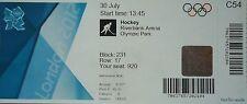 mint Eintrittskarte Olympia 30.7.2012 Men's Hockey Spanien - Pakistan C54