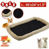 """36""""x24""""x1.5"""" Orthopedic Pet Bed Dog Cat Crate Lounger Deluxe Cushion Plush L"""