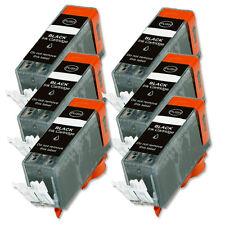 6 BLACK Ink Cartridge for Canon Printer PGI-220BK MP640 MX860 MX870