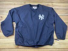 Majestic MLB New York Yankees Pullover Windbreaker Jacket XL NY Navy Blue