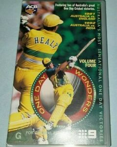 CRICKET ONE DAY WONDERS VOLUME FOUR VHS VIDEO CASSETTE IN VGC