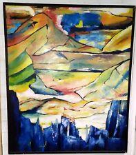 Tableau sur toile Signé Art Abstrait Moderne XXème 99x119cm
