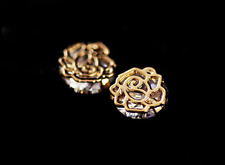 Gorgeous Fashion *Rose* Rose Gold GP 1.0 Cts AAA Cubic Zirconia Stud Earring