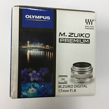 Olympus M.Zuiko 17mm f/1.8 (Silver) Lens for Micro Four Thirds 3/4