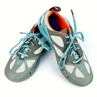 Body Glove Swoop Beach Runner Womens Shoes Size 8 Gray Blu Water Drainage System