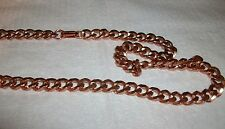 "100% Copper Chain Necklace 18"" New Heavy Link"