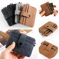 Purse Money Pocket Business Small Wallet Leather Card Holder ID Credit Case