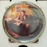 """A Young Man's Dream"" by Norman Rockwell Collector Plate (Edwin M Knowles)"