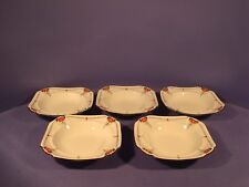 SHELLEY RED DAISY 11497 PATTERN, RIMMED DESSERT/FRUIT DISHES, QUEEN ANNE SHAPE,