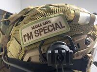 Mama Hook & Loop Morale Patch. Airsoft Paintball Embroidered Helmet U.K. Seller.
