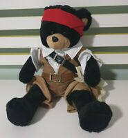 PIRATE TEDDY BEAR BEARS AND BUDDIES CLOTHES 36CM BLACK TEDDY BEAR!