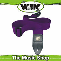 "Ernie Ball Polypro Purple Guitar Strap - 2"" Wide - Length Adjustable - New"