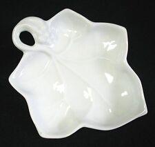 Grape Leaf Bonbon Candy Dish LILLIAN VERNON White Porcelain 5-7/8 inch