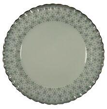 """SPODE china FLEUR DE LYS Y7515 Grey CHOP PLATE Round Platter 12-3/4"""""""