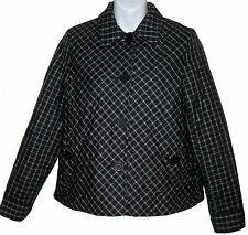 Jones NY Petite quilted jacket sz PS navy blue plaid coat NEW $139