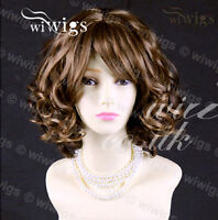 Lovely Short Curly Blonde mix Auburn Summer Style Skin Top Ladies Wigs WIWIGS UK