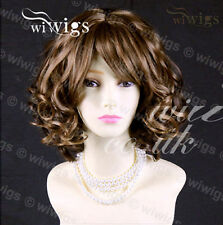 Beautiful Short Blonde Mix Auburn Curly Skin Top Ladies Wig From WIWIGS UK