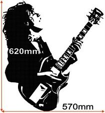 ANGUS YOUNG acdc vinyl decals wall art decor stickers