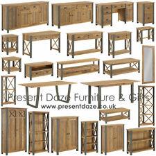 Urban Elegance Reclaimed Wood & Steel Living, Dining & Home Office Furniture