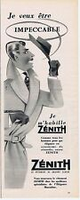 PUBLICITE ADVERTISING 015 1956 ZENITH le vêtement de grande classe