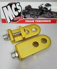 "MCS BMX 3/8"" CHAIN TENSIONERS GOLD"