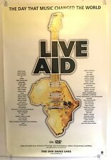 "Live Aid large 24""x36"" Promo Poster (2004 Warner DVD release) EXC VG COND"