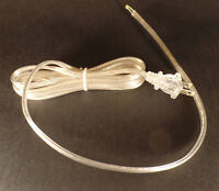 NEW 8' Clear Silver 18/2 Plastic Covered Lamp Cord Plug Set SPT-2,U.L., #CS813