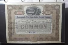 Vintage Streetcar and Passenger Railway Stocks and Bonds Lot 98