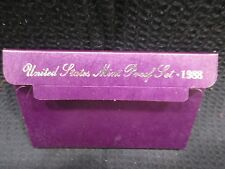 1988 UNITED STATES PROOF SET 5 CLAD COINS IN BOX