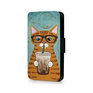Cat Drinking Phone Flip Case For iPhone - Huawei - Google