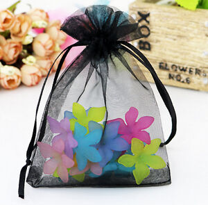 100pcs Organza Gift Bags Wedding Christmas Party Favor Packaging Pouches