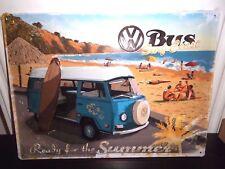 VW VOLKSWAGEN BUS camper/kombi  EMBOSSED 3D XL METAL SIGN 40X30cm  16X12 INCH
