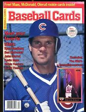 Baseball Cards Magazine December 1990 Ryne Sandberg w/Mint Cards jhscd4