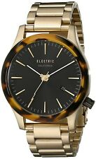 Electric California FW03 SS Watch Gold/Tortoise Watch NEW + FREE GIFT