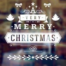 Buon Natale Finestra Decorativa Arte Muro Adesivo Decalcomania Xmas SHOP CASA ALBERO